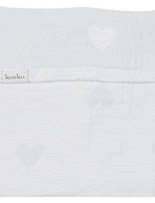 Koeka Koeka Deken Altea Hearts Mint/White 75 x 100 cm