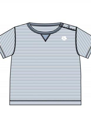 Koeka Koeka T-shirt Palm Beach Soft Blue