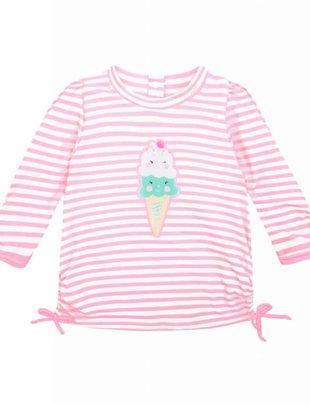 Sunuva swimwear Sunuva UV Shirt Pink & White Stripe