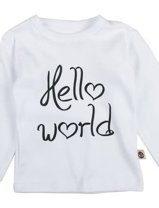Wooden Buttons Wooden Buttons T-shirt Hello World