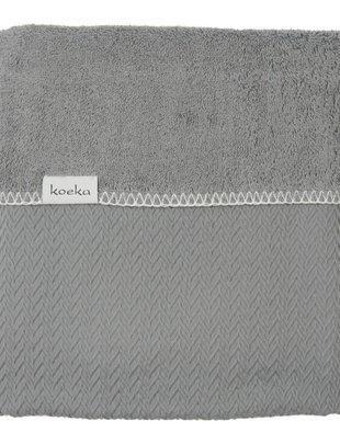 Koeka Koeka Deken Stockholm Steel Grey 75 x 100