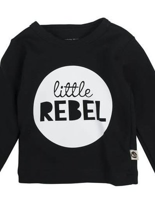 Wooden Buttons Wooden Buttons T-shirt Littel Rebel