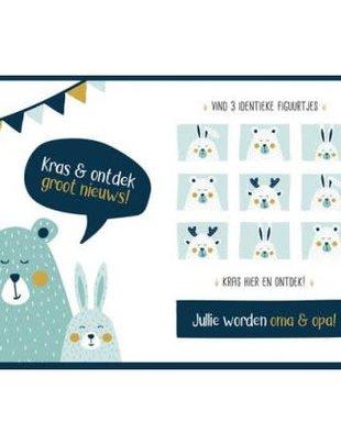 """Minimou Minimou Kraskaart """"Jullie Worden Oma En Opa"""""""