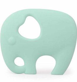 Nibbling Nibbling Bijtring Sillicone Elephant Mint