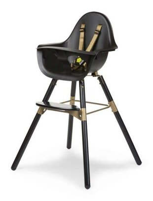 Childhome Childhome Evolu 2 Stoel Black/Gold 2 in 1 + Beugel