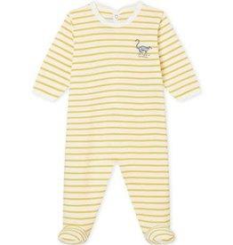 Petit Bateau Petit Bateau Pyjama Strepen Oker