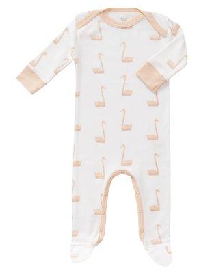 Fresk Fresk Pyjama met voet Swan Pale Peach