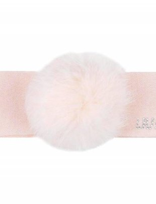 Liu Jo Liu Jo Haarband met Pompon Pink