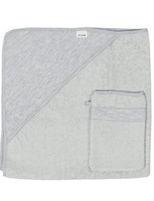 Trixie Trixie Badcape Met Washandje Granite Grey