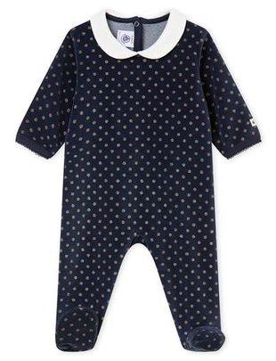 Petit Bateau Petit Bateau Pyjama Marineblauw Met Gouden Stippen