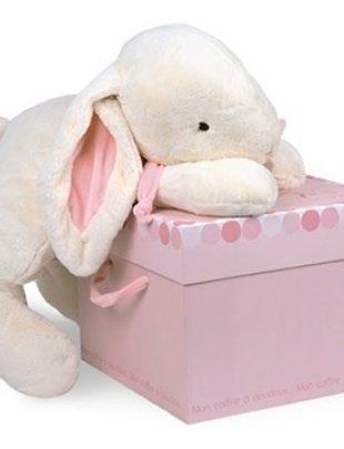 Doudou et Compagnie Doudou et Compagnie Konijn Bonbon Rose 75 cm + Box