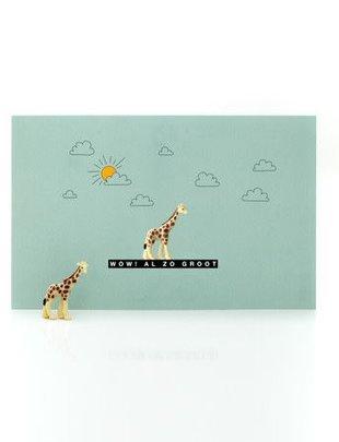 Leuke Kaartjes Leuke Kaartjes Giraf Met Geluksbrenger