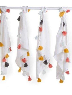 Childhome Childhome Doeken Tetra Set 4 + Pompons