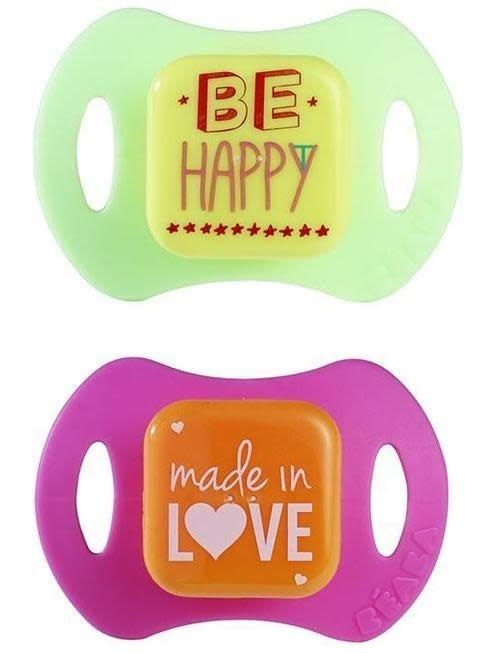 Béaba Beaba Pacifier set Made in Love - Be Happy +6M