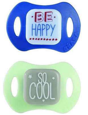 Béaba Beaba Pacifier Set Be Happy - So Cool 0-6m
