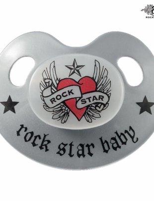 Rock Star Baby Rock Star Baby Fopspeen Slimeline Hart & Wings 18+