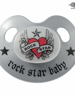 Rock Star Baby Rock Star Baby Fopspeen  Slimeline  Heart & Wings 6-18 m