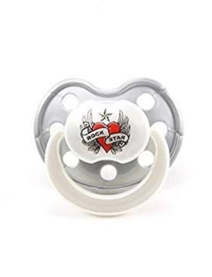 Rock Star Baby Rock Star Baby Fopspeen Orthodontic Heart & Wings 3-24 m