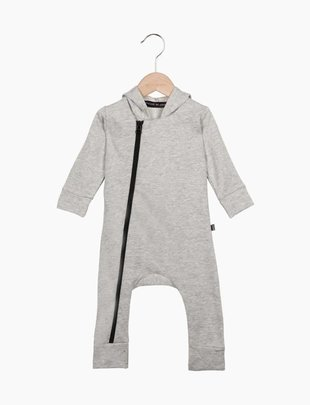 House of Jamie House of Jamie Hoody Zip Jumpsuit Stone