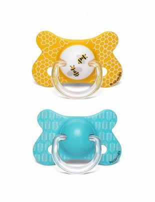 Suavinex Suavinex Fopspeen Fusion Silicone  Bee + 18 (set van 2)