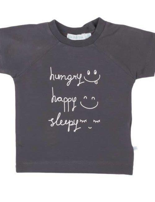 Bla Bla Bla Bla Bla Bla T-shirt Hungry Happy Sleepy