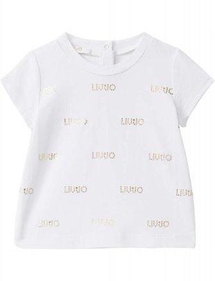 Liu Jo Liu Jo T-shirt Logo White/Gold