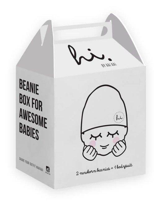Aai Aai Aai Aai Beanie Box Ash