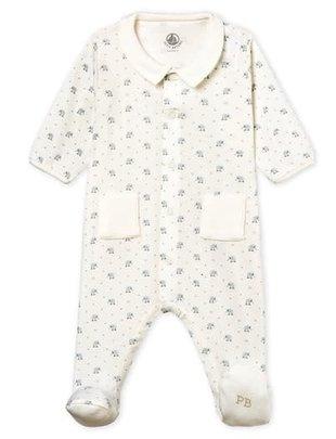 Petit Bateau Petit Bateau Pyjama Dierenprint En Effen Kraagje