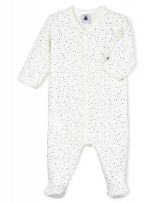 Petit Bateau Petit Bateau Pyjama Fluweel Kleine Sterretjes
