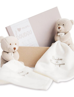 Doudou et Compagnie Doudou et Compagnie Doudou Beertjes Taupe Duo