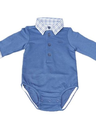 Natini Natini Polo Body Paul Vichy Fancy Blue Voor Jongens