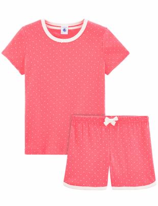Petit Bateau Petit Bateau Pyjama Kort Roze