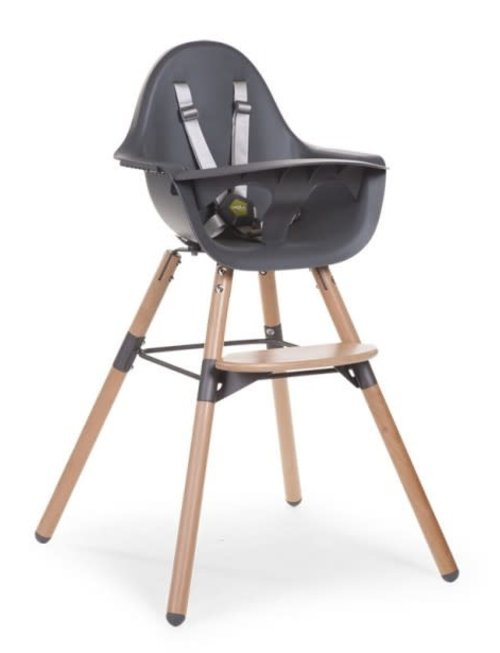 Childhome Childhome Evolu 2 Stoel Naturel/Anthracite 2 in 1 + Beugel