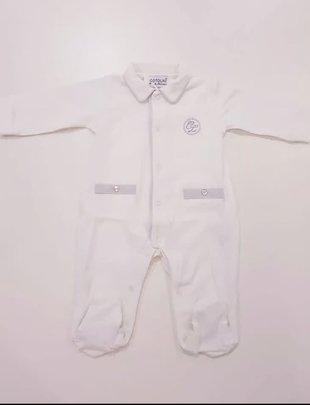 Cotolini Cotolini pyjama BB Pedro/Paulus Blanc Gris