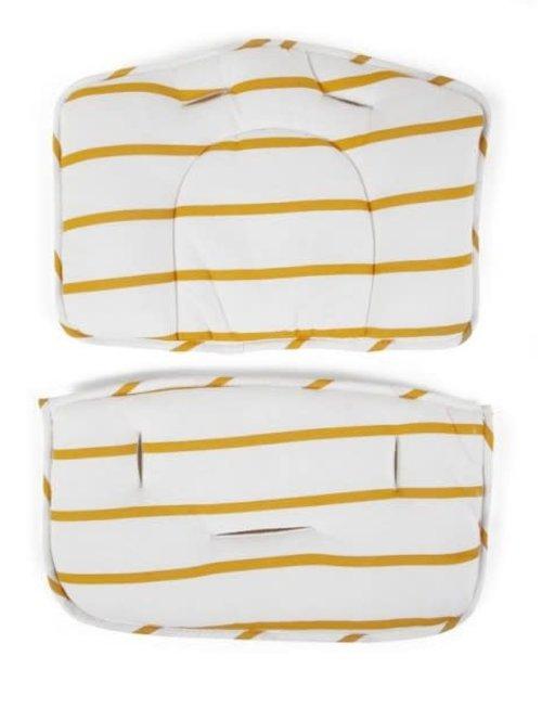 Childhome Childhome Meegroeistoel Kussen  Jersey Ochre Stripes