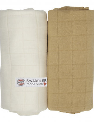Lodger Lodger Tetradoek Set Van 2 Ivory/Honey 120 x 120 cm