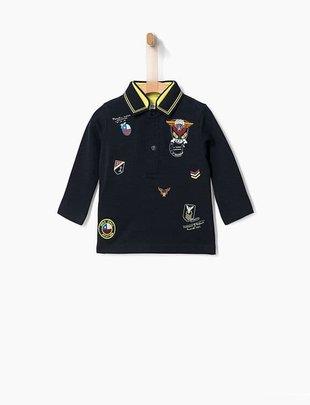 IKKS IKKS Polo Marine Met Patches
