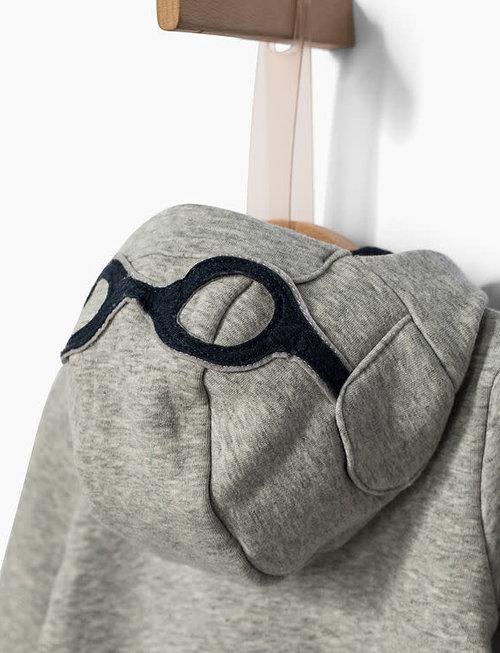 IKKS IKKS Vest Met Pilotenbril Op De Kap