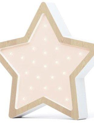 Sabo Sabo Lamp Star Wooden Pink