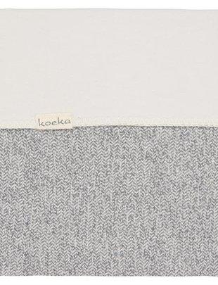 Koeka Koeka Deken Vigo Flannel Sparkle Grey 75 x 100 cm
