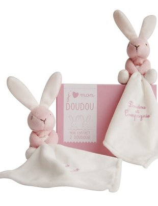 Doudou et Compagnie Doudou et Compagnie 2 Roze Doudou's Konijntjes