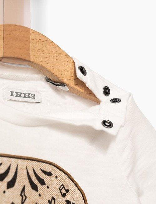 IKKS IKKS T-shirt Jongens Skull Met Snor