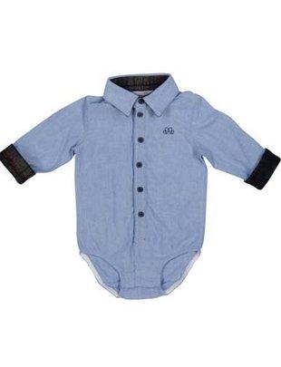 Natini Natini Bodyhemd Mory Vichy Donkerblauw