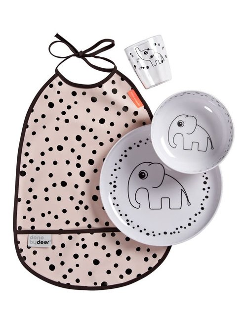 Done by Deer Done by Deer Dinner Set Happy Dots Powder