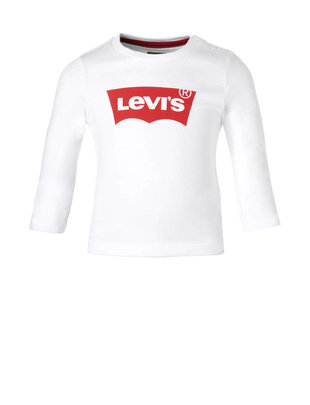 Levi's Levi's T-Shirt Lange Mouw Wit/Rood Logo
