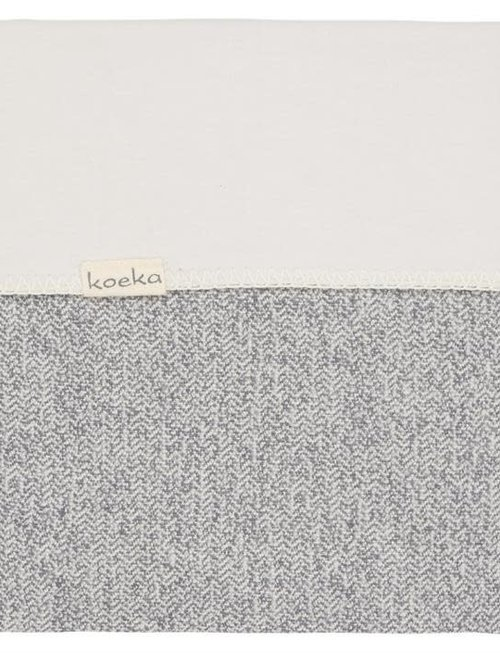 Koeka Koeka Deken Vigo Flanel Sparkle Grey 100 x 150 cm
