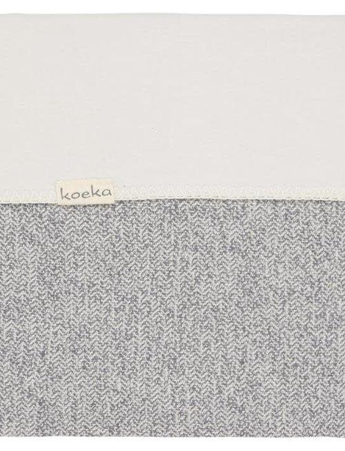 Koeka Koeka Vigo Deken Flanel Sparkle Grey 100 x 150 cm