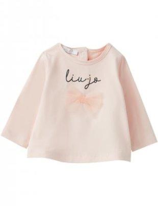 Liu Jo Liu Jo T-shirt Logo Pink Satin