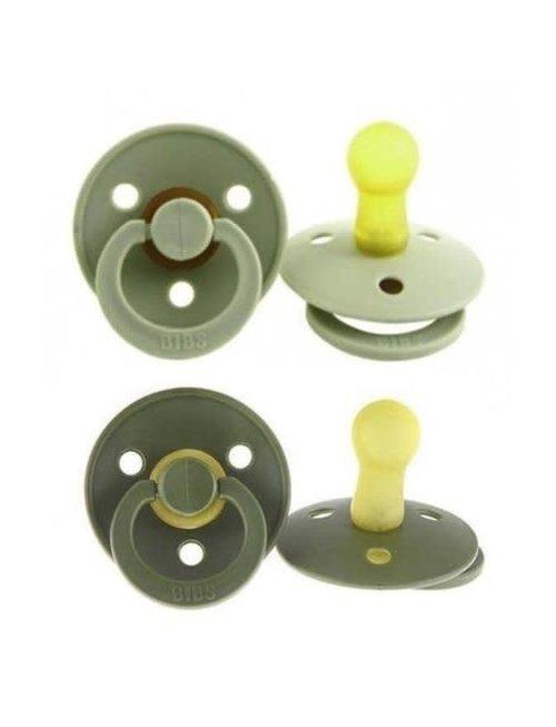 Bibs Bibs Fopspeen Latex 2 stuks Sage/Green (T2) 3-36 m