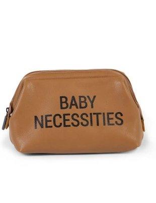 Childhome Childhome Toiletzakje Babty Necessities Leatherlook Bruin